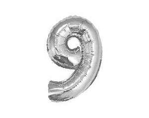 Фольгированный шар 92см серебряный