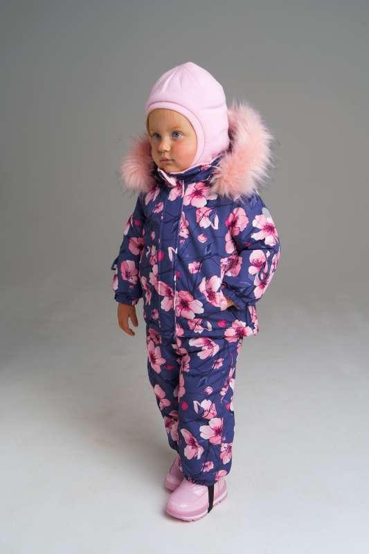 Зимний комплект: куртка, полукомбинезон из мембранной ткани для девочки (размер 80)