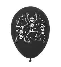 Шар с рисунком 11 Скелеты