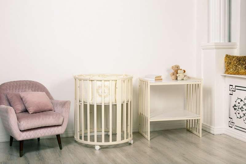 Bērnu gulta MIMI 7 in 1, ziloņkaula krāsa