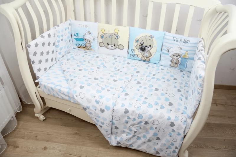 Комплект постельного белья, 6 предметов Малыш мишутка