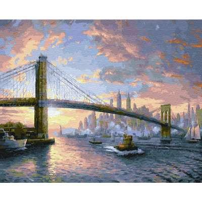 Glezna pēc numuriem -  Rītausma pāri Ņujorkai (28 krāsas)