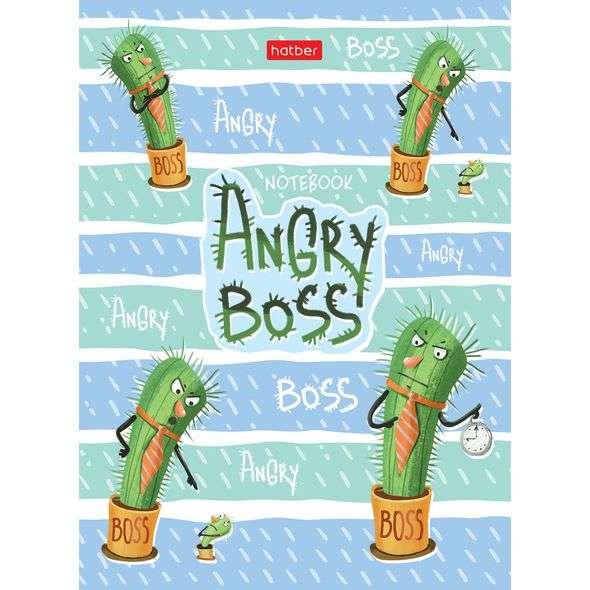 Biznesa piezīmju bloknots 64lpp A6 rūtiņa / līnija - Angry Boss