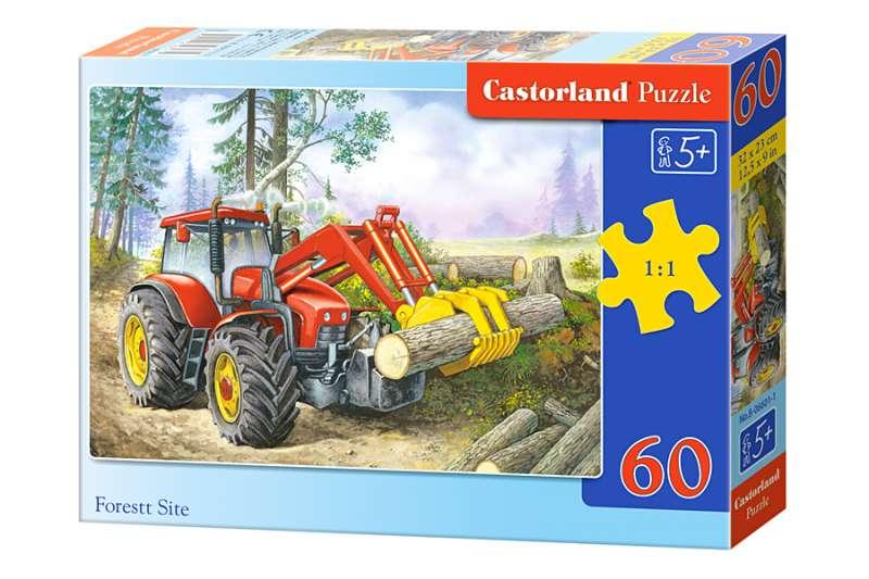 Пазл 60. Лесной трактор