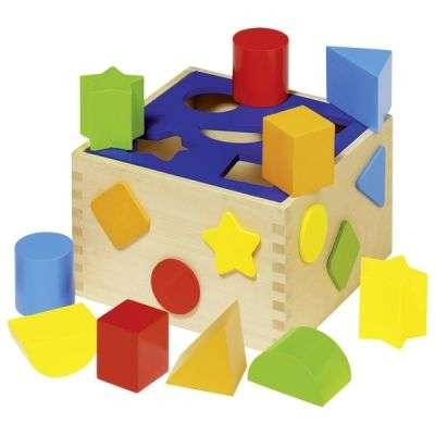 Обучающая игрушка GOKI - Куб-сортировщик фигур