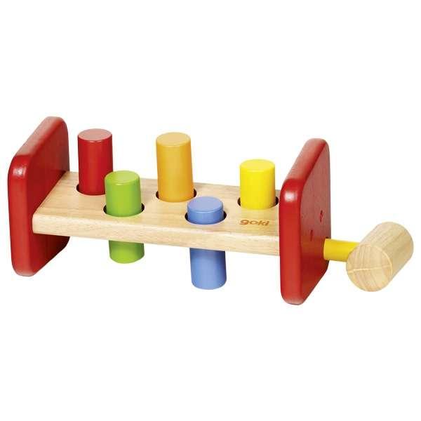 Развивающая игрушка GOKI - Молоток, 7 частей