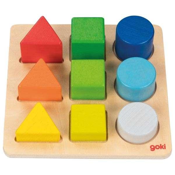 Доска по цвету и форме GOKI, 9 частей