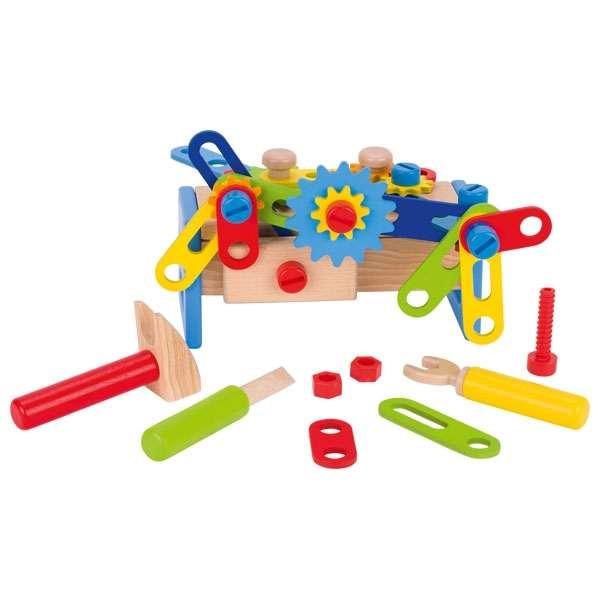 Верстак игрушечный, переносной ящик, инструменты GOKI, 40 деталей