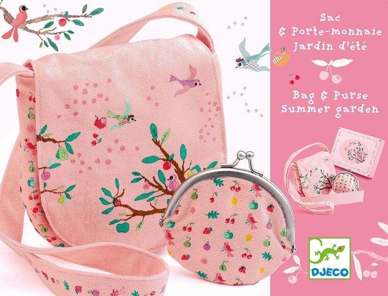 Сумочка и кошелек с вышивкой «Летний сад»