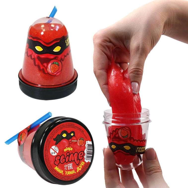 Slime Ninja ar zemeņu aromātu, 130 g. baidās no aukstuma