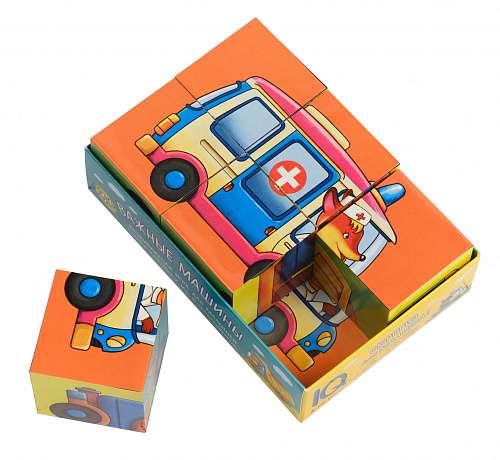 IQ-кубики в поддончике. 6 штук. Важные машины