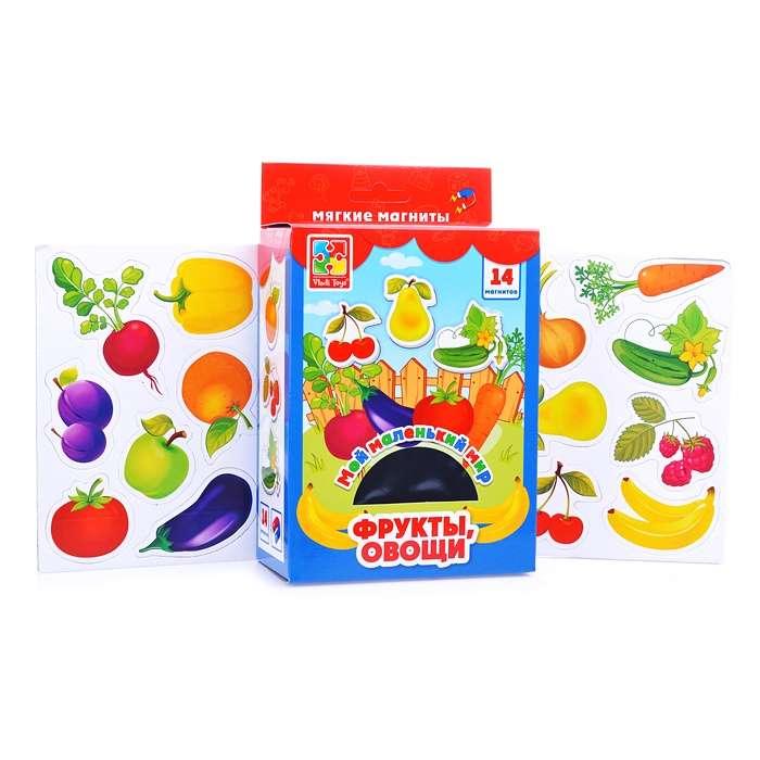 Пазлы на магните -  Мой маленький мир. Овощи, фрукты