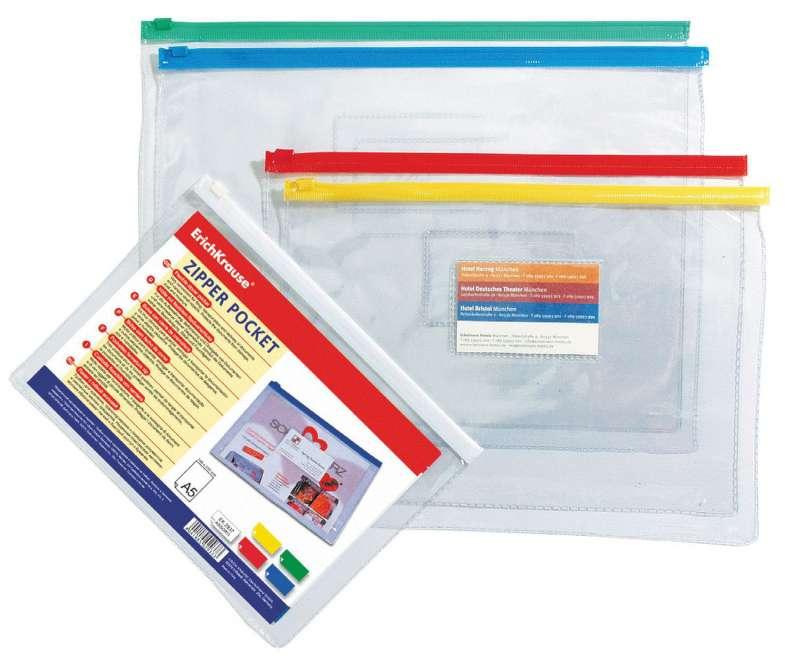 Zip-пакет пластиковый ErichKrause PVC Zip Pocket, B6, прозрачный