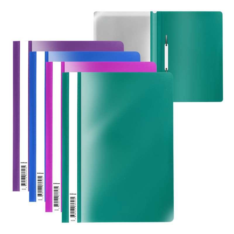 Папка-скоросшиватель пластиковая ErichKrause Fizzy Vivid, A4, ассорти