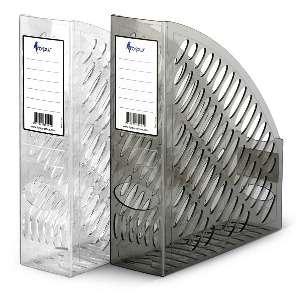 Бокс д/бумаг вертикальный FORPUS, ширина 70мм, сетчатый, прозрачный