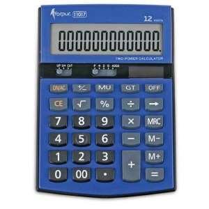 Калькулятор FORPUS 11017, 12 разрядов, двойное питание,151,5х107х29мм, синий