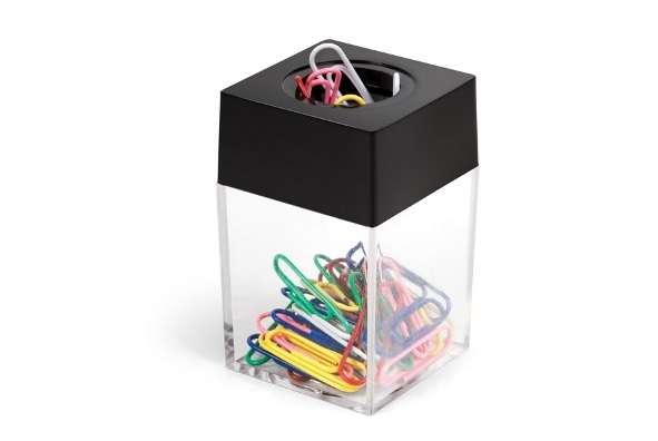 Скрепочница FORPUS, пластиковая, магнитная, в комплекте 30 цветных скрепок 26мм