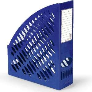 Бокс д/бумаг вертикальный FORPUS, ширина 70мм, сетчатый, синий