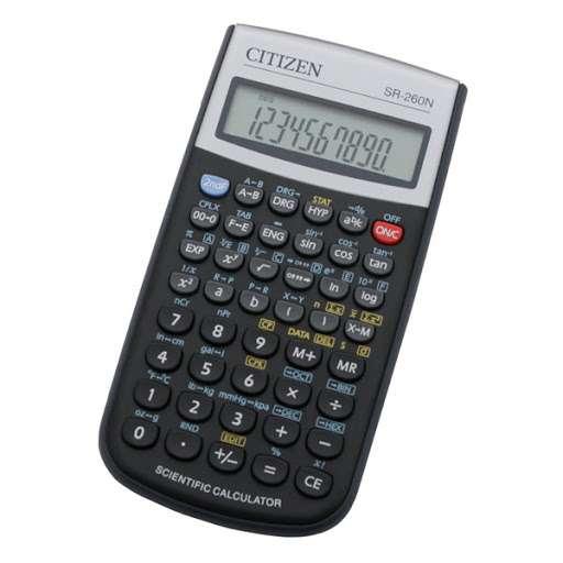 Калькулятор научный Citizen SR-260N, 10+2 разрядов, 165 функций, 80*154*14мм, черный