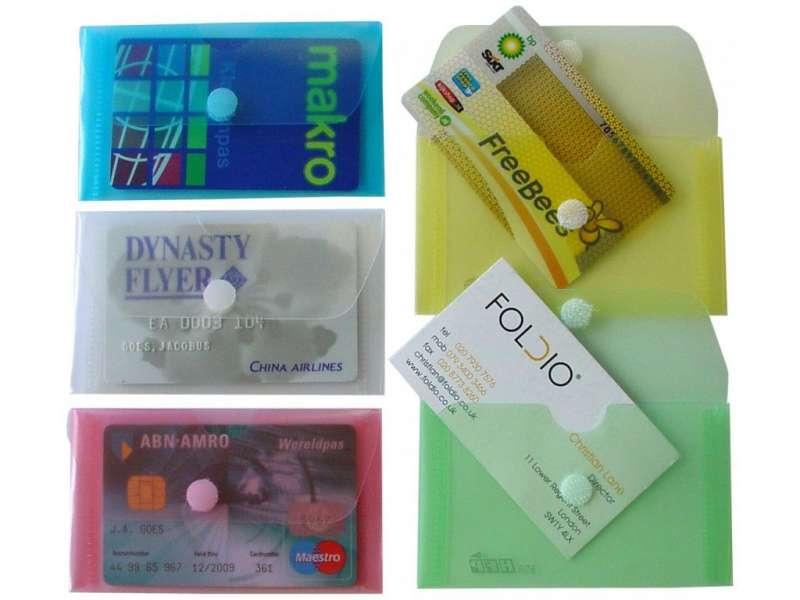 Папка-конверт с липучкой HFP 906 65 x 100мм зеленая