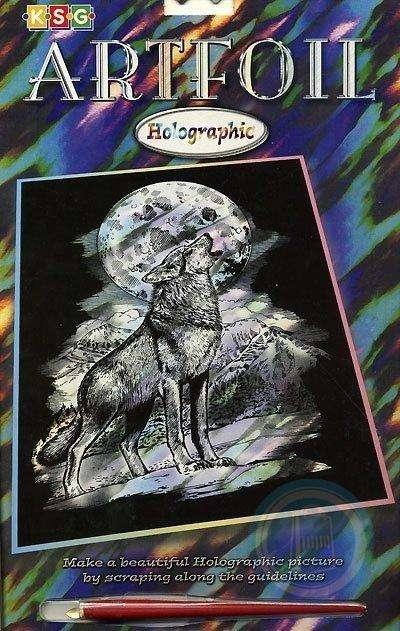 Гравюра HOLOGRAPHIC WOLF
