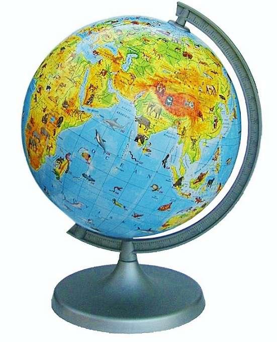 Глобус Зоологический d 220мм