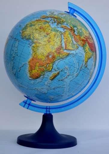 Глобус 250мм 3D физический с подсветкой.