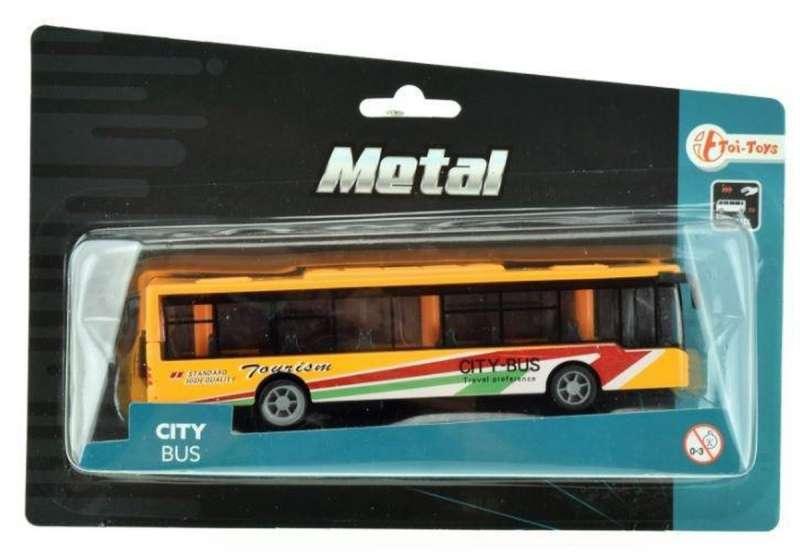 Игрушечный автобус, металлический