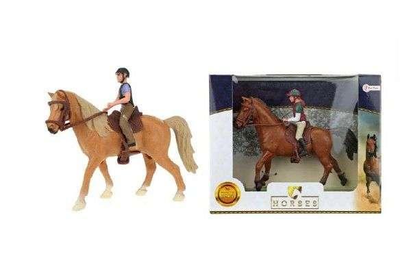 Фигурка лошади с всадником
