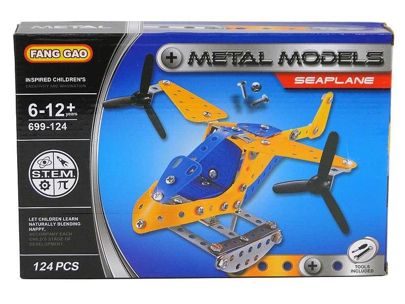Металлический конструктор Seaplane 124 детали