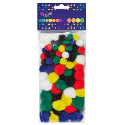 Декор для творчества-акрил Pomponi Mix, 78 шт ярких цветов