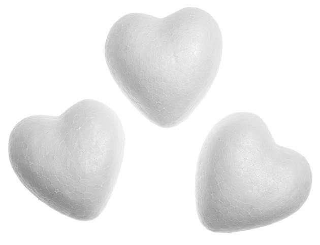 Сердце из пенопласта 60мм, 1шт.