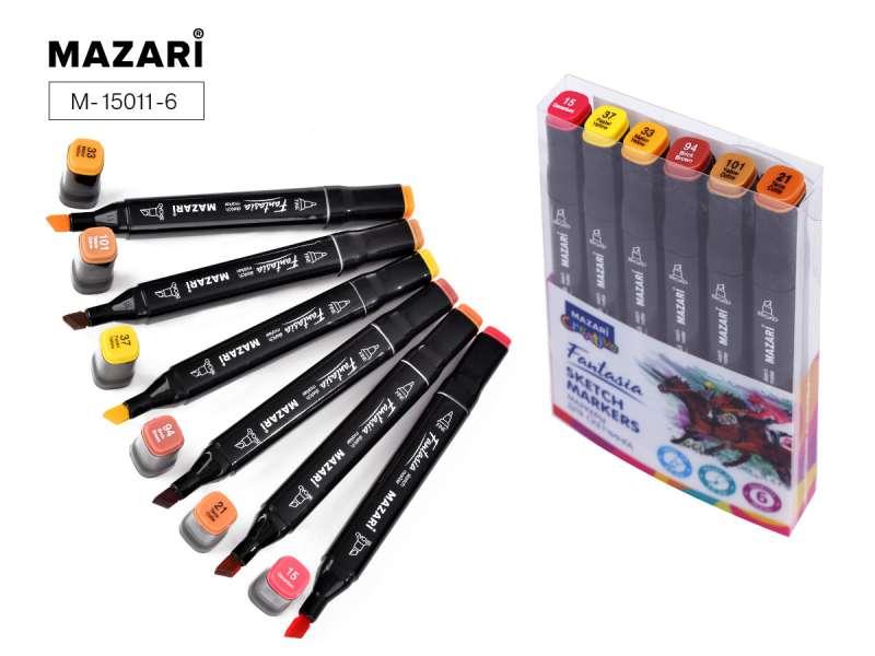 Набор маркеров для скетчинга двусторонние FANTASIA, 6цв., Autumn colors (цвета осени)