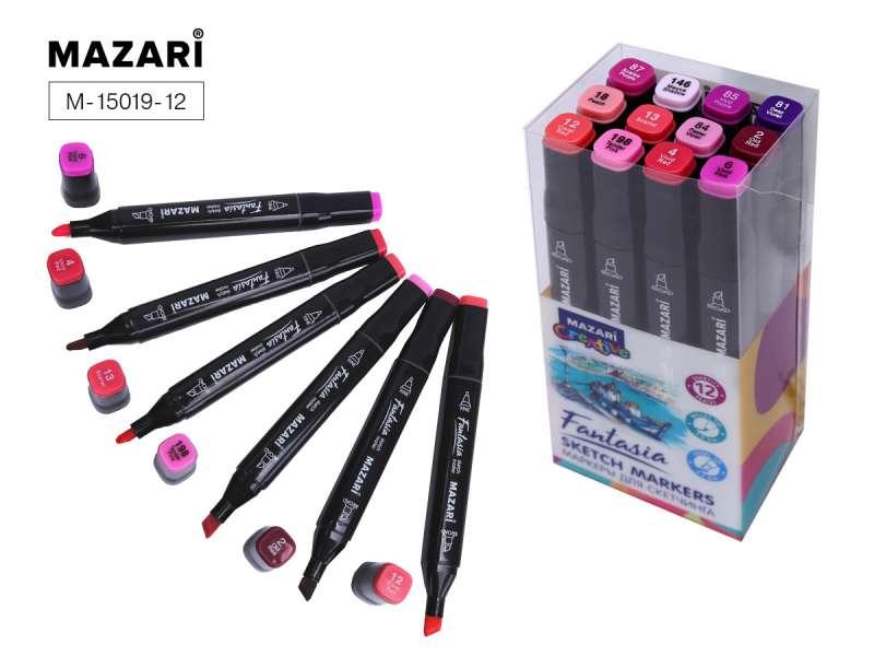 Набор маркеров для скетчинга двусторонние FANTASIA, 12цв., Berries colors (ягодные цвета)