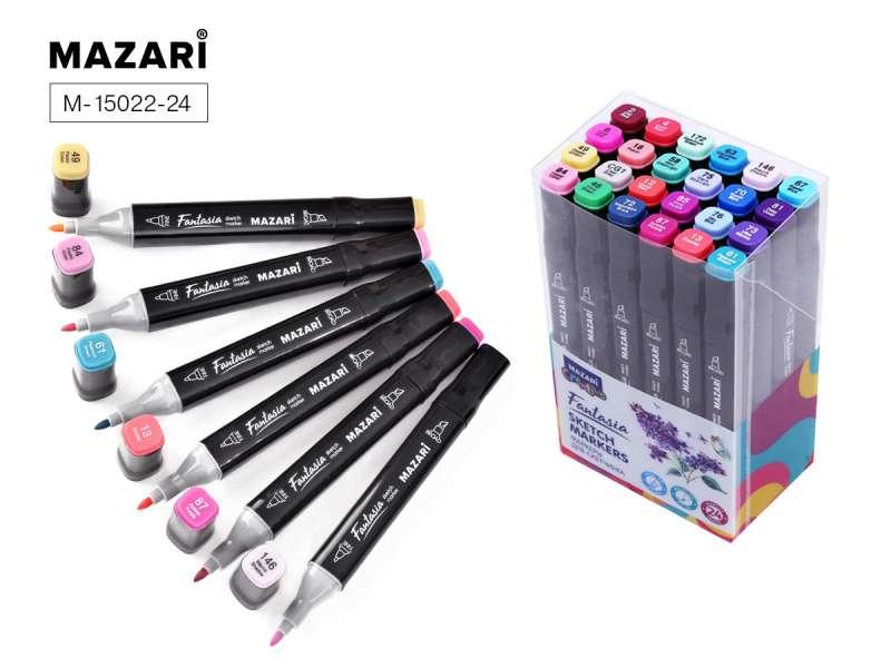 Набор маркеров для скетчинга двусторонние FANTASIA, 24цв., Flowers colors (цветочная гамма)
