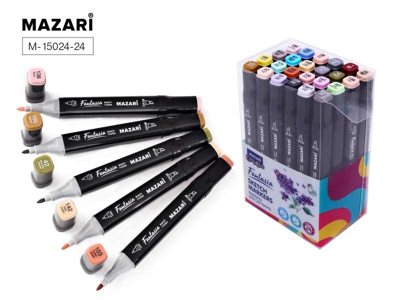 Набор маркеров для скетчинга двусторонние FANTASIA, 24цв., Grey- pastel colors (серые пастельные цвета)