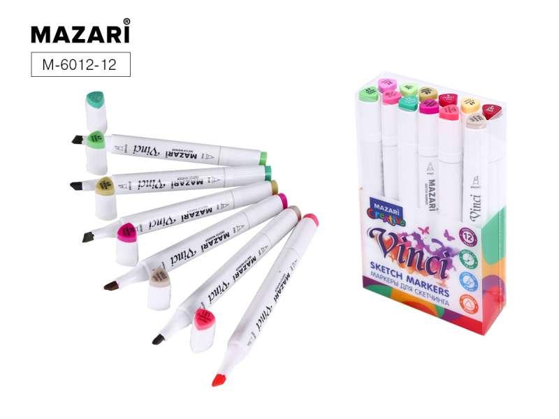 Набор маркеров для скетчинга двусторонние VINCI, 12цв., Flowers colors (цветочная гамма)