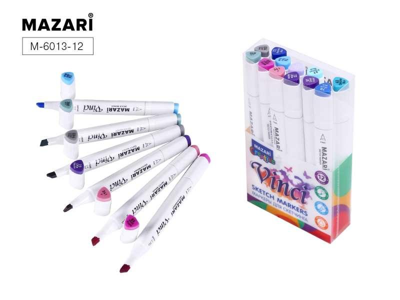 Набор маркеров для скетчинга двусторонние VINCI, 12цв., Lavander colors (лавандовые цвета)
