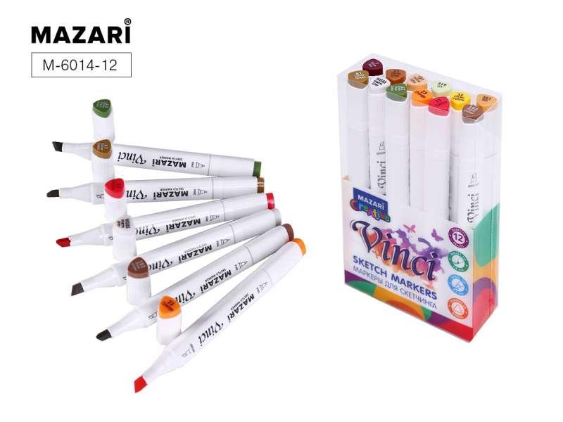 Набор маркеров для скетчинга двусторонние VINCI, 12цв., Forest colors (цвета леса)