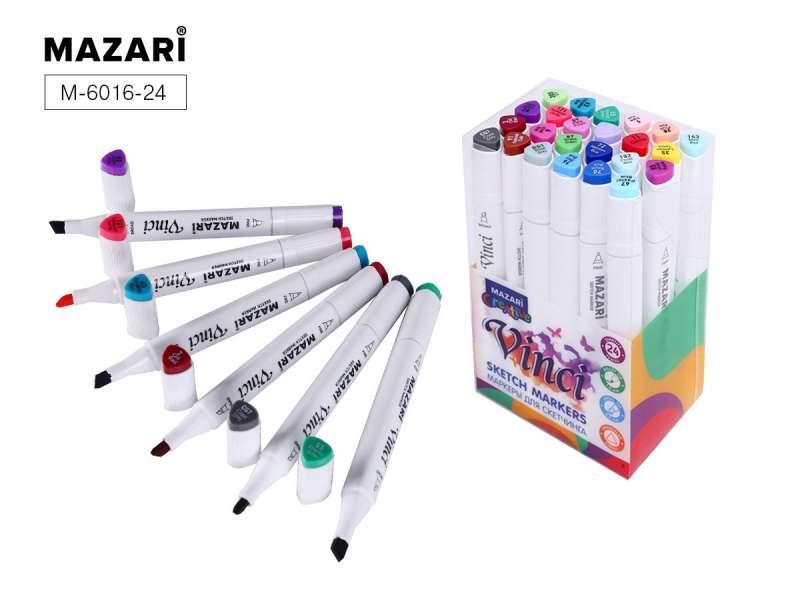 Набор маркеров для скетчинга двусторонние VINCI, 24цв., Main colors (основные цвета)