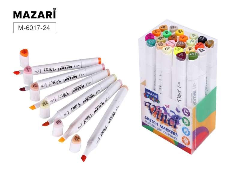 Набор маркеров для скетчинга двусторонние VINCI, 24цв., Autumn colors (цвета осени)