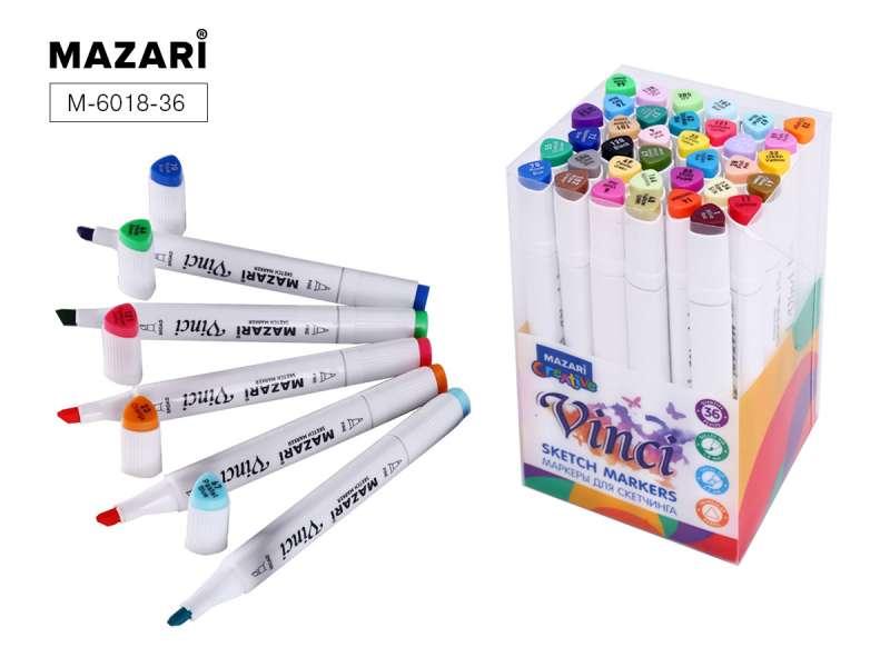 Набор маркеров для скетчинга двусторонние VINCI, 36цв., Main colors (основные цвета)