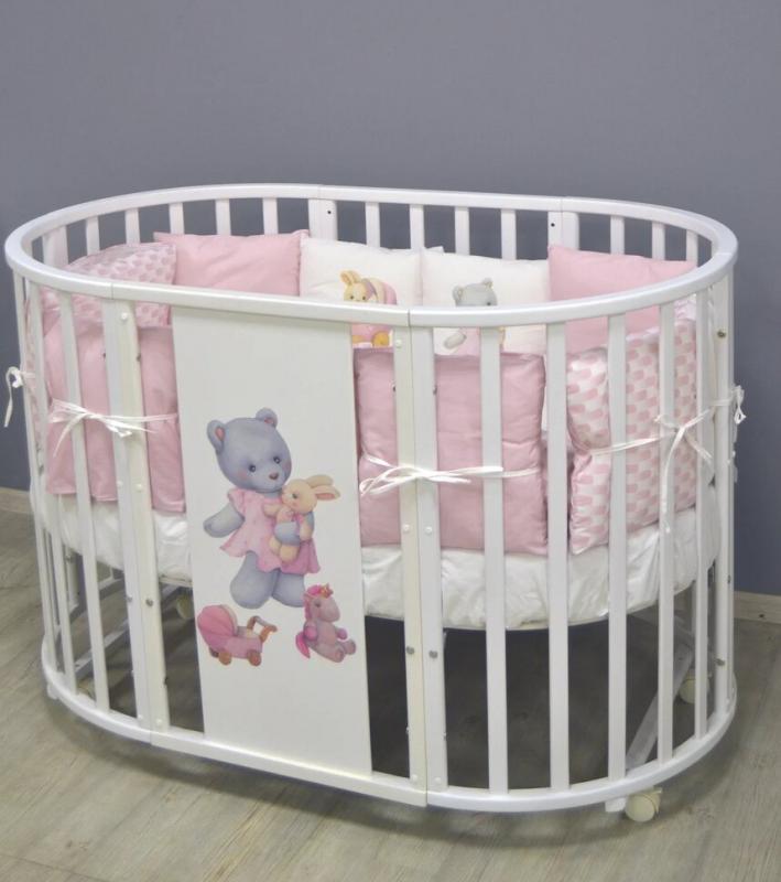 Bērnu gulta Eva, balta krāsa