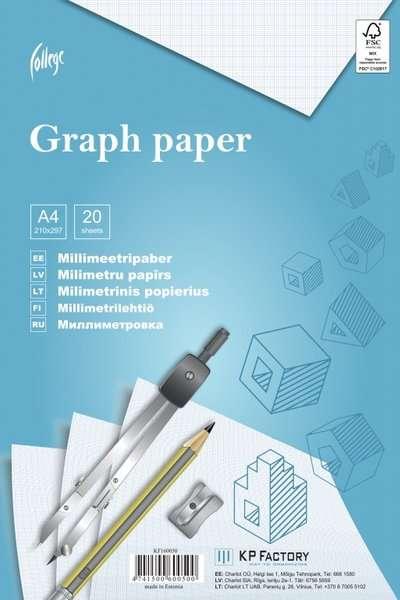 Миллиметровая бумага College A4, 20 страниц