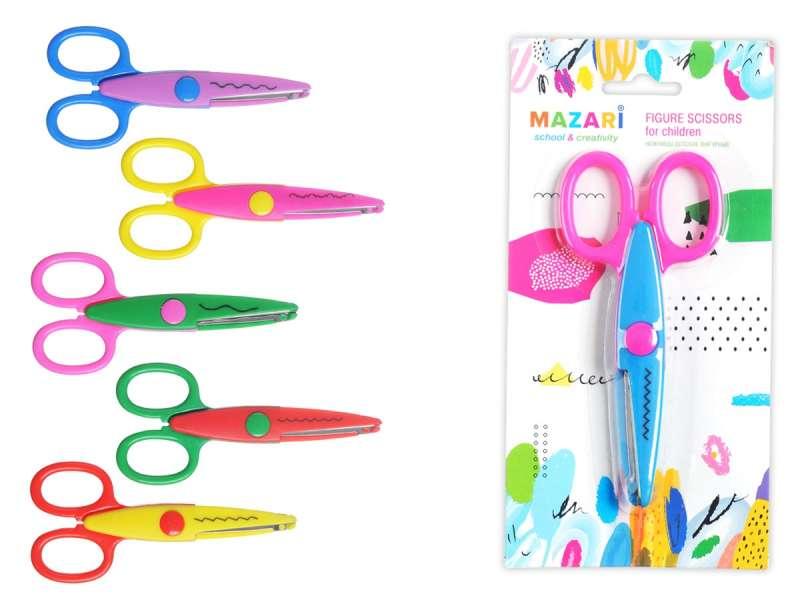 Ножницы детские фигурные, 135мм, ассорти 6 дизайнов