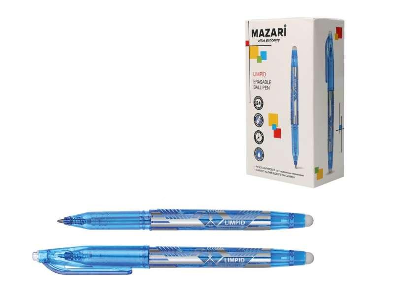Ручка шариковая со стираемыми чернилами LIMPID, СИНЯЯ