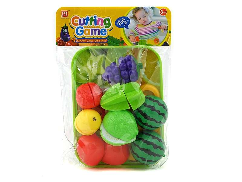 Игрушечная разделочная доска для фруктов на подносе, набор