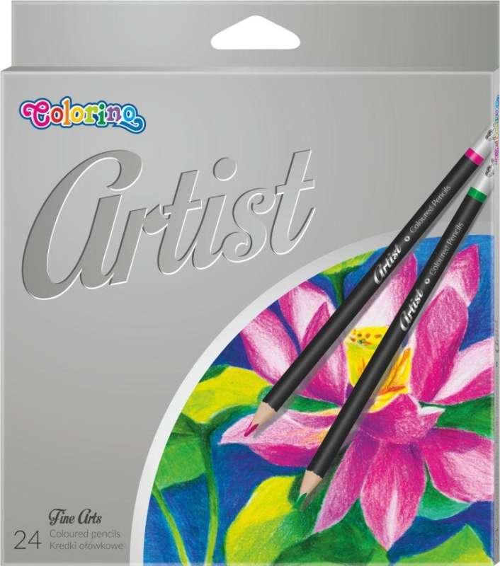 Цветные карандаши. 24 цветов. Artist COLORINO