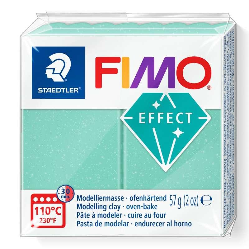 Cietējoša modelēšanas masa FIMO EFFECT, 57 g,gaiši zaļš