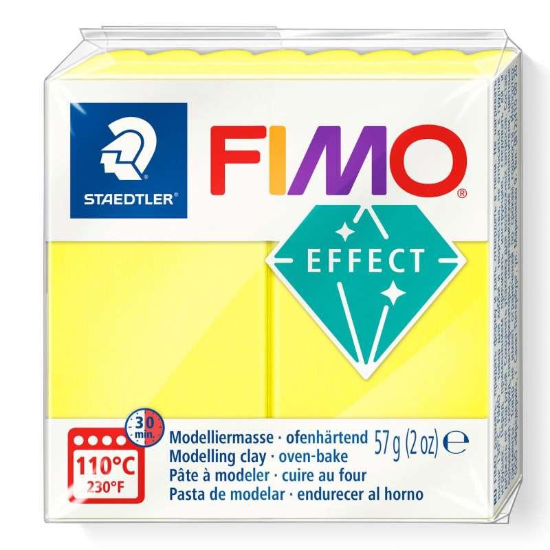 Cietējoša modelēšanas masa FIMO EFFECT, 57g, Neon dzeltena